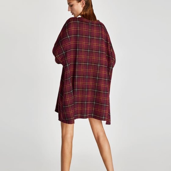 9dee6497 zara oversized check dress. M_5aad56f531a376471afdb5d0